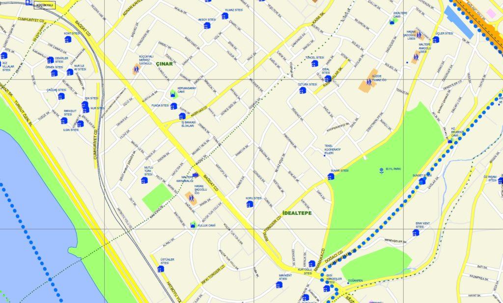sokak detaylı harita