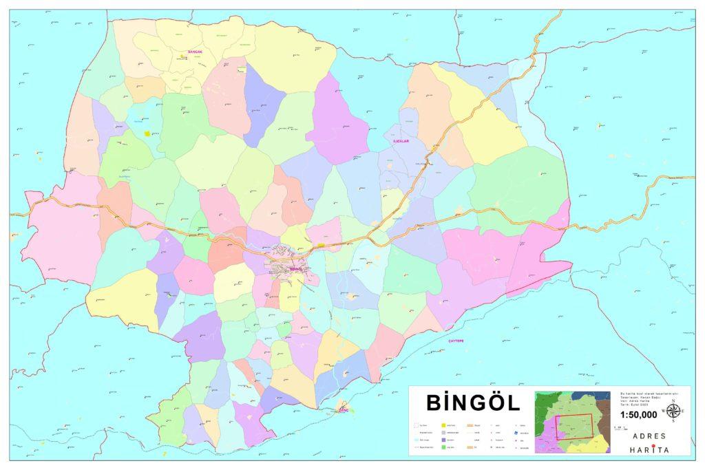 renklendirilmiş köy haritası